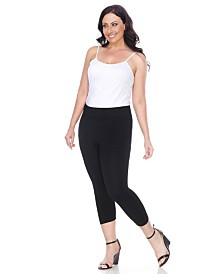White Mark Plus Size Super Soft Capri Leggings