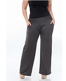 Plus Size Solid Palazzo Pants
