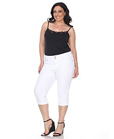 Plus Size Super Stretch Capri Denim