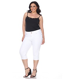 White Mark Plus Size Super Stretch Capri Denim