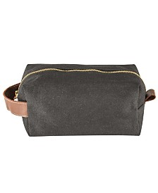 Cathy's Concepts Personalized Men'S Waxed Canvas and Leather Dopp Kit