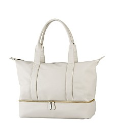 Cathy's Concepts Personalized Pebble Polyurethane Weekender Tote