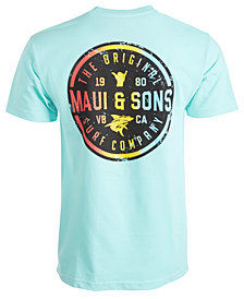 Maui and Sons Men's Shaka N Surf Graphic T-Shirt
