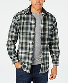Men's Lodge Plaid Wool Pocket Shirt