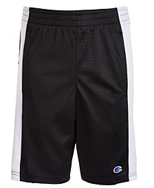Big Boys Script Panel Mesh Shorts