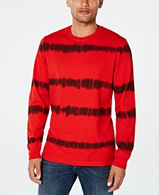 Men's Tie Dye Striped Long-Sleeve T-Shirt