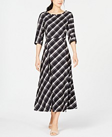Clima Plaid A-Line Dress