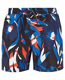 BOSS Men's Batfish Floral-Print Swim Shorts
