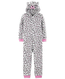 Little & Big Girls 1-Pc. Leopard-Print Pajama