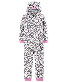 Carter's Little & Big Girls 1-Pc. Leopard-Print Pajama