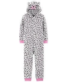 Carter's Little & Big Girls 1-Pc. Leopard-Print Pajama