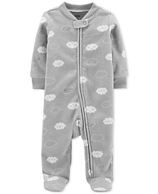 Carter's Baby Boys & Girls Cloud-Print Footed Coverall