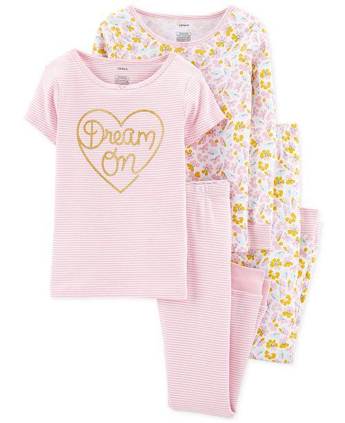 Carter's Little & Big Girls 4-Pc. Dream On Cotton Pajama Set