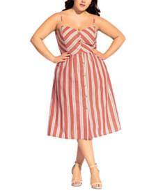 City Chic Trendy Plus Size Take Me Away Dress