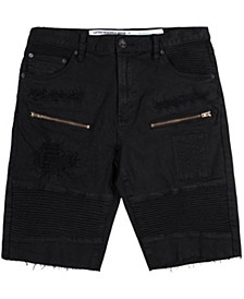 Men's Big & Tall Rally Distressed Moto Shorts