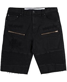 LRG Men's Big & Tall Rally Distressed Moto Shorts