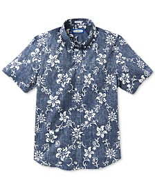 Reyn Spooner Men's Summer Pareau Slim-Fit Floral-Print Shirt