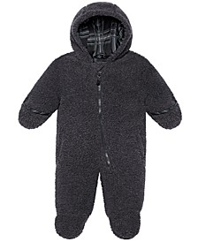 Baby Boys Hooded Faux-Sherpa Footed Pram
