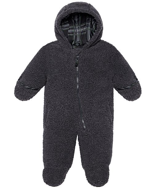 S Rothschild & CO Baby Boys Hooded Faux-Sherpa Footed Pram