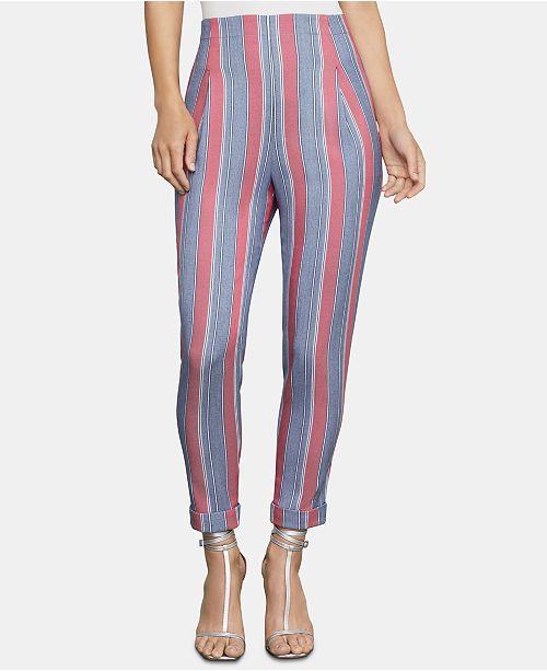 BCBGMAXAZRIA Striped Ankle Pants