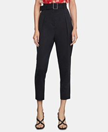 BCBGMAXAZRIA Belted Cropped Pants