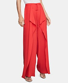 Draped Wide-Leg Pants