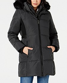 Faux-Fur-Trim Down Puffer Coat