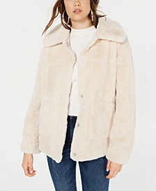 Juniors' Faux-Fur Coat
