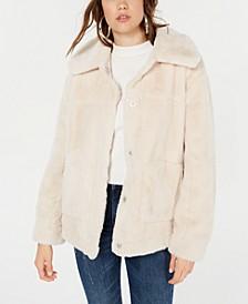 Juniors' Faux-Fur Coat