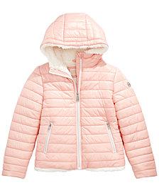 Michael Michael Kors Toddler Girls Faux-Fur-Lined Hooded Puffer Jacket