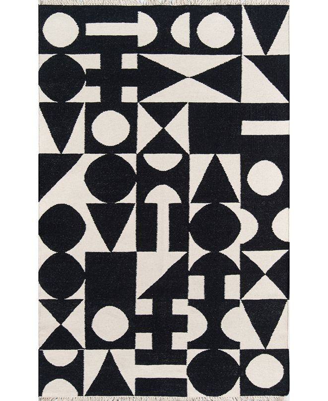 Novogratz Topanga Top-3 Black Area Rug Collection