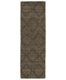 "Imprints Modern IPM02-40 Chocolate 2'6"" x 8' Runner Rug"