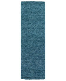 "Imprints Modern IPM04-78 Turquoise 2'6"" x 8' Runner Rug"
