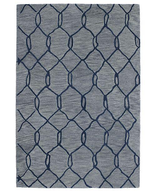 Kaleen Casablanca CAS02-17 Blue 4 'x 6' Area Rug