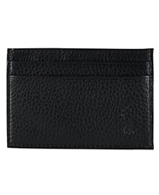 Men's Wallet, Pebbled Credit Card Case and Money Clip