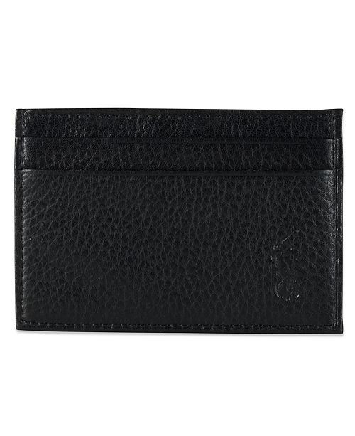 ad5bf51202d3 ... Polo Ralph Lauren Men's Wallet, Pebbled Credit Card Case and Money Clip  ...