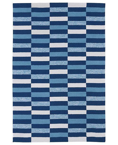 """Kaleen Matira MAT03-17 Blue 7'6"""" x 9' Area Rug"""
