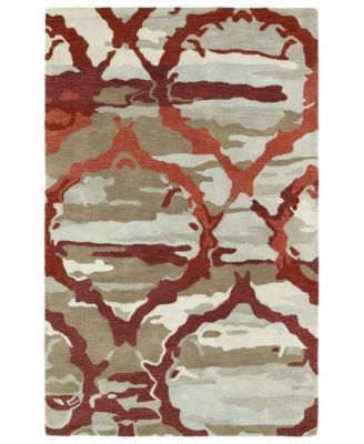 """Brushstrokes BRS02-25 Red 3'6"""" x 5'6"""" Area Rug"""