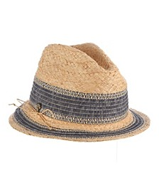 Raffia Braid and Ribbon Fedora