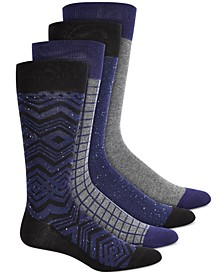 Men's 4-Pk. Printed Socks, Created for Macy's