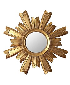 Abbyson Living Nevada Gold Sunburst Wall Mirror