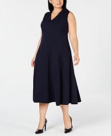 Trendy Plus Size Fit & Flare Midi Dress