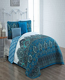Livia 4-Pc. Twin Bohemian Reversible Quilt Set