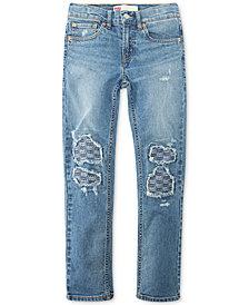 Levi's® Big Boys Destructed Stretch Jeans