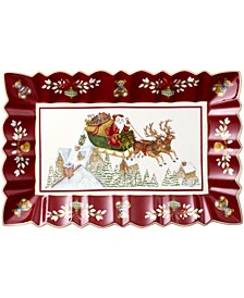 Toy's Fantasy Rectangular Cake Plate: Sleigh Ride