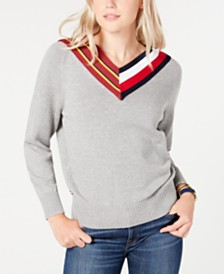Tommy Hilfiger V-Neck Sweater, Created for Macy's