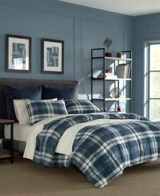 Crossview Plaid Navy Comforter Set, Twin/Twin XL