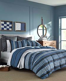 Nautica Valmont Navy Comforter Set, Full/Queen