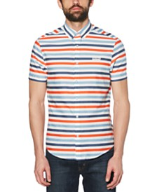Original Penguin Men's Roadway Stretch Stripe Poplin Shirt