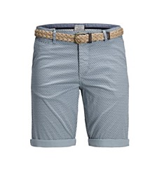 Jack & Jones Men's Summer Chino Printed Shorts with Belt
